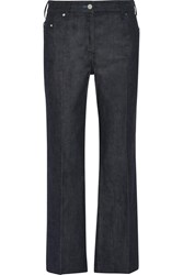 Calvin Klein Collection Cropped Mid Rise Flared Jeans Indigo