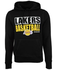 47 Brand '47 Men's Los Angeles Lakers Knockaround Headline Pullover Hoodie Black