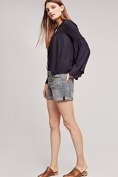 Anthropologie Pilcro Hyphen Mid Rise Denim Short Denim Medium Blue