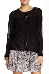 Angie Sheer Blouse Black