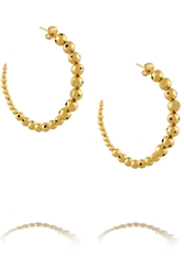 Paula Mendoza Helios Gold Plated Hoop Earrings