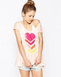 Wildfox Couture Wildfox Neon Brave Beach Top Pink