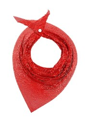Paco Rabanne Sequin Scarf Red