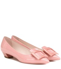 Roger Vivier Gommette Ball Leather Ballet Flats Pink