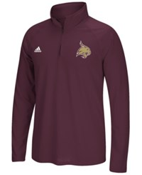 Adidas Men's Texas State Bobcats Primary Screen Ultimate Quarter Zip Pullover Maroon