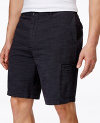 Tasso Elba Men's Cargo Shorts Only At Macy's Charcoal Combo