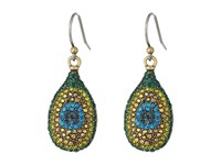 Lucky Brand Peacock Pave Drop Earrings Gold Earring