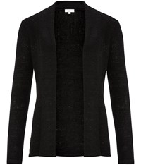 Cc Sequin Yarn Cardigan Black