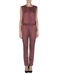 Made For Loving Pant Overalls Maroon