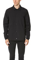 Reigning Champ Stretch Nylon Coach Jacket Black