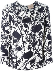 Erika Cavallini Semi Couture Printed Blouse Black