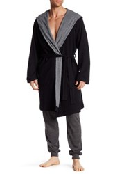 Bread And Boxers Hooded Thermal Robe Black