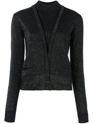 Just Cavalli Layered Effect Knitted Cardigan Black