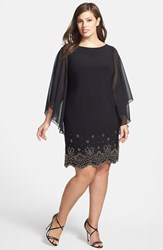 Xscape Evenings Plus Size Women's Xscape Embellished Hem Chiffon Dress