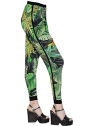 Max Mara Tropical Print Jersey Pants