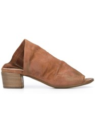 Marsell Bo Sandalo Mules Brown