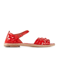 N.D.C. Made By Hand Scrappy Flat Sandals Red