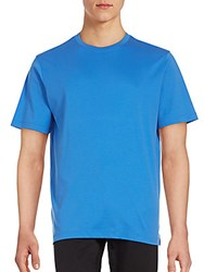 Saks Fifth Avenue Short Sleeve Cotton T Shirt Blue