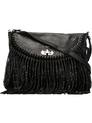 Zadig And Voltaire 'Vagabond Hippie Cuir' Bag Black