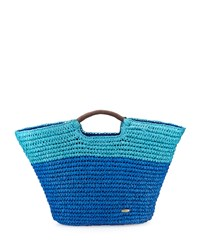 Capelli Of New York Cappelli Large Straw Market Tote Bag Royal Blue