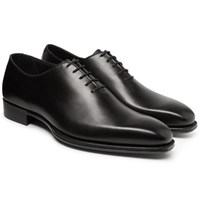 Kingsman George Cleverley Merlin Whole Cut Leather Oxford Shoes Black