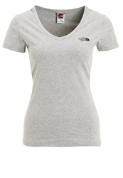 The North Face Simple Dome Basic Tshirt Light Grey Heather Mottled Light Grey
