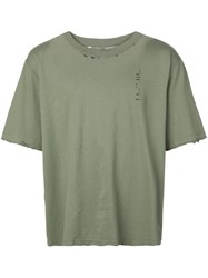 Unravel Project Classic Loose T Shirt Green
