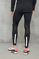 Forever 21 Reflective Sports Leggings Black