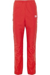 Vetements Shell Track Pants Red