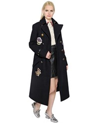 Coach 1941 Double Breasted Wool Coat W Patches