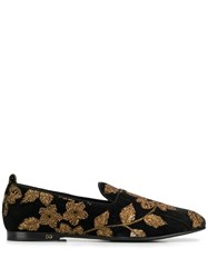 Dolce And Gabbana Floral Brocade Loafers Black