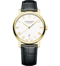 Chopard 161278 0001 Classic 18Ct Yellow Gold And Leather Watch