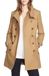 Burberry Women's Brit 'Daylesmoore' Wool Blend Double Breasted Trench Coat Camel