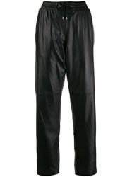 Kenzo Leather Track Pants Black