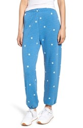 Wildfox Couture Football Star Easy Sweatpants Blue Coast