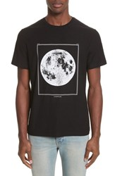 Ovadia And Sons Men's Full Moon Graphic T Shirt Black