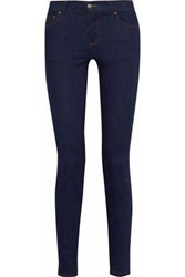 Red Valentino Mid Rise Skinny Jeans Navy