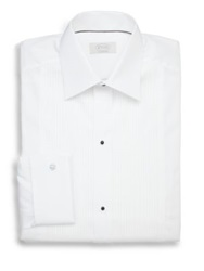 Eton Of Sweden Contemporary Fit Pleated Bib Formal Dress Shirt White