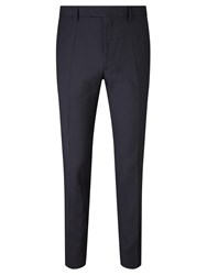 John Lewis Kin By Harrison Micro Check Slim Suit Trousers Navy