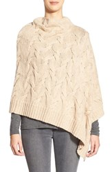 Women's Eileen Fisher Funnel Neck Cable Knit Poncho
