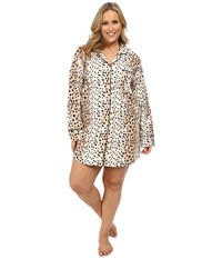 Bedhead Plus Size Flannel Nightshirt Royal Animal Women's Pajama Silver
