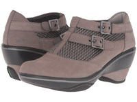 Jambu Sylvie Grey Women's Wedge Shoes Gray