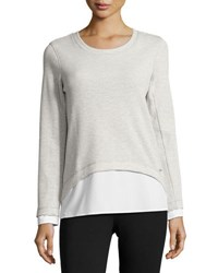 Marc New York Twofer Striped Top Gray