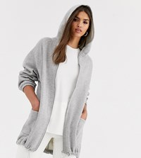Micha Lounge Oversized Hoodie With Toggle Detail Grey