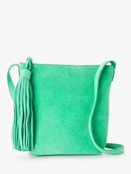 And Or Mena Suede Cross Body Bag Mint Green