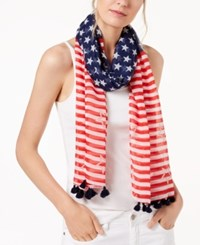 Collection Xiix Stars And Stripes Scarf Red