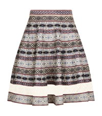 Alexander Mcqueen Jacquard Lace Panel Stretch Knit Skirt Female Multi