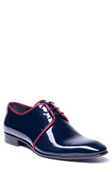 Jared Lang Romeo Cap Toe Derby Navy Leather