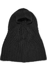 Helmut Lang Ribbed Alpaca Blend Snood Black