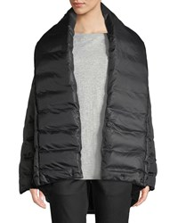Eileen Fisher High Shawl Collar Kimono Puffer Coat Black
